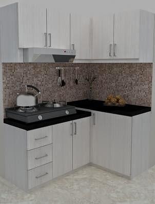 JASA DESAIN 3D MAX MURAH Desain Interior 3D Mini Kitchen