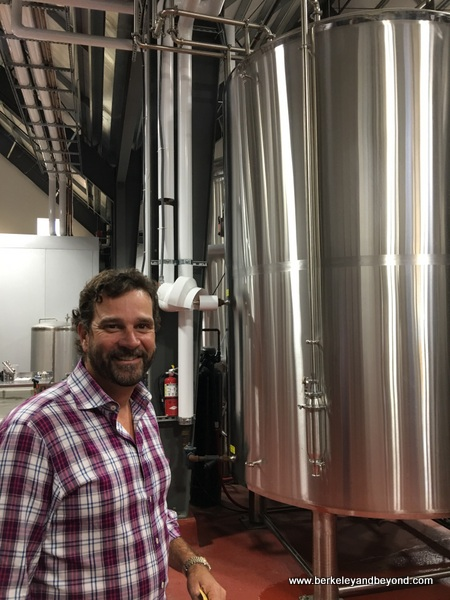 co-owner Hamish Marshall  in tank area at The Rock at SLO Brew in San Luis Obispo, California