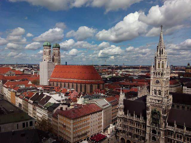 Frauenkirche Marienplatz Neues Rathaus Munich