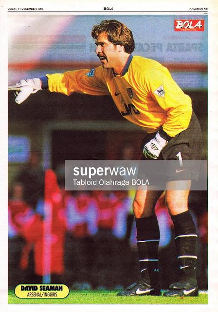 DAVID SEAMAN ARSENAL 1998