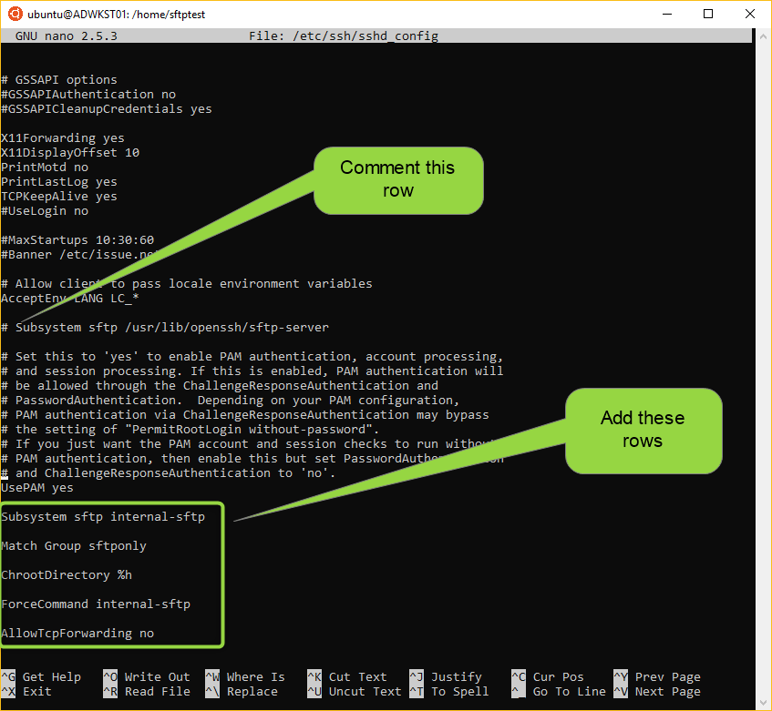 Integration stuff: Setting up SFTP server on Ubuntu