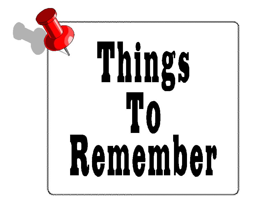 Free Posters and Signs: Things To Remember