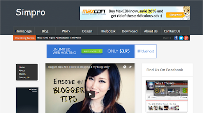 Simpro Blogger Template