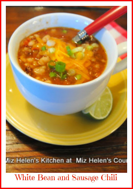 White Bean and Sausage Chili at Miz Helen's Country Cottage