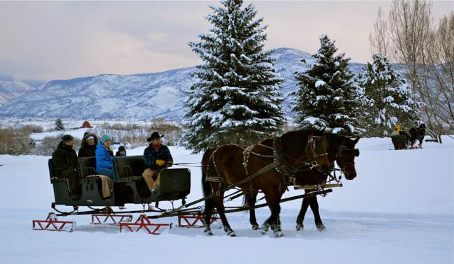 sleigh ride | winter activities for families | Utah