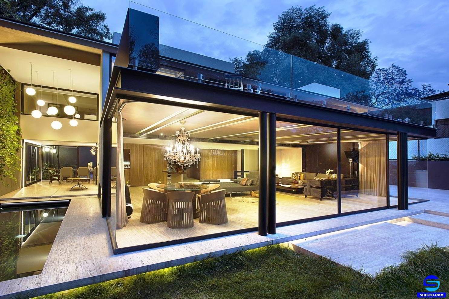 Galeri Desain Rumah Full Kaca Terunik Papan Interior