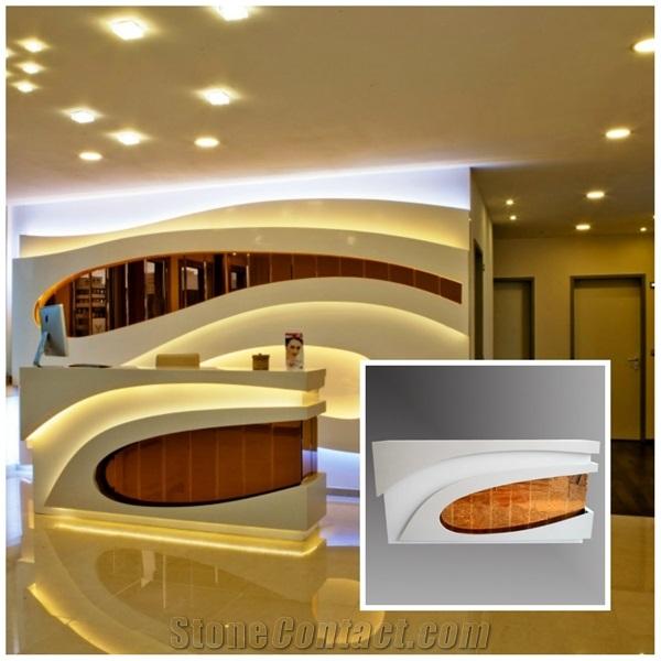 modern office counter design ideas