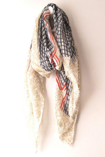 Foulard créateur kaki violine Mii accessoires