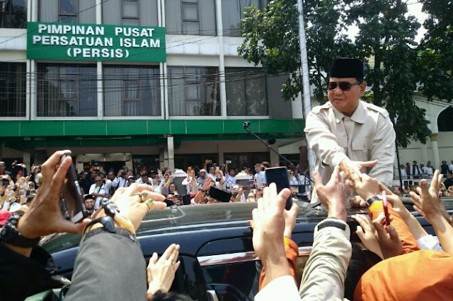 Massa PP Persis: Prabowo Presiden, Prabowo Presiden!