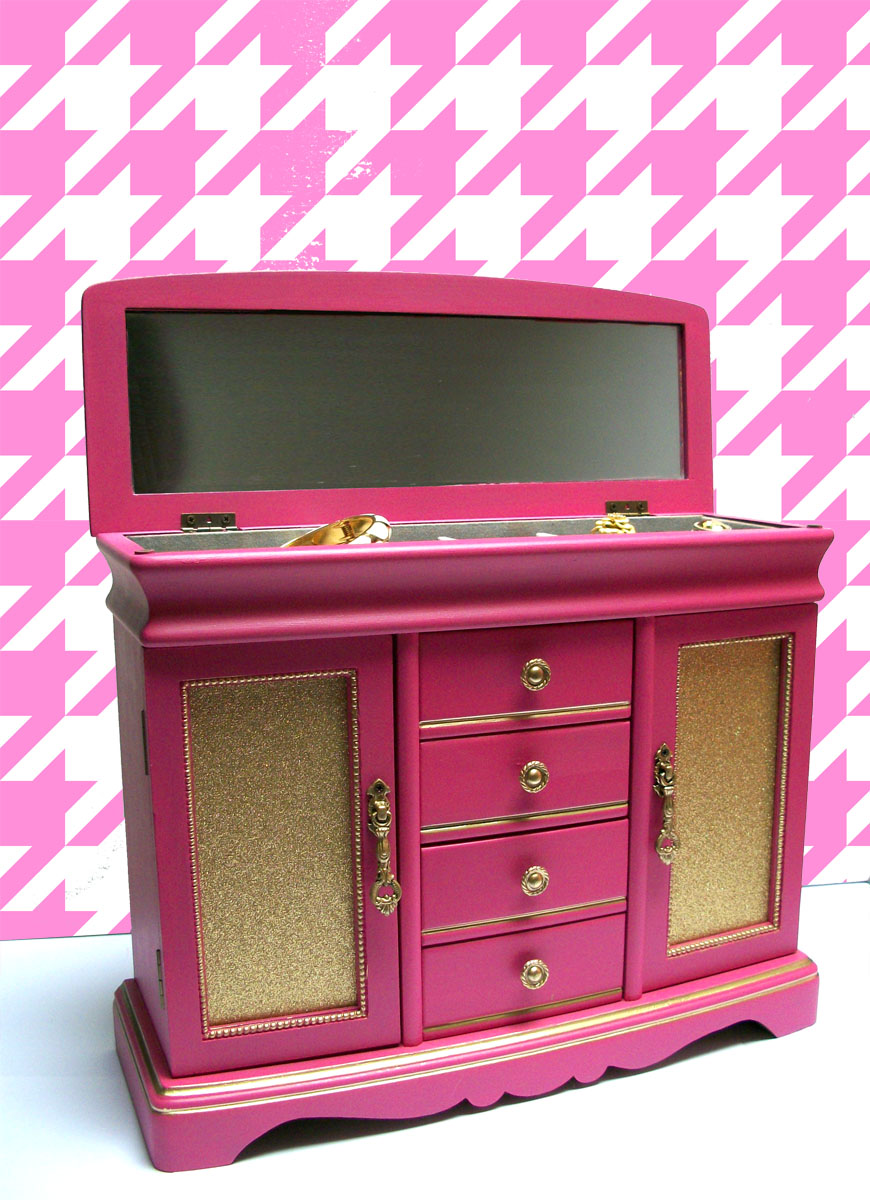 Lindsay Whipple Now Hot Pink Jewelry Box With Carousel