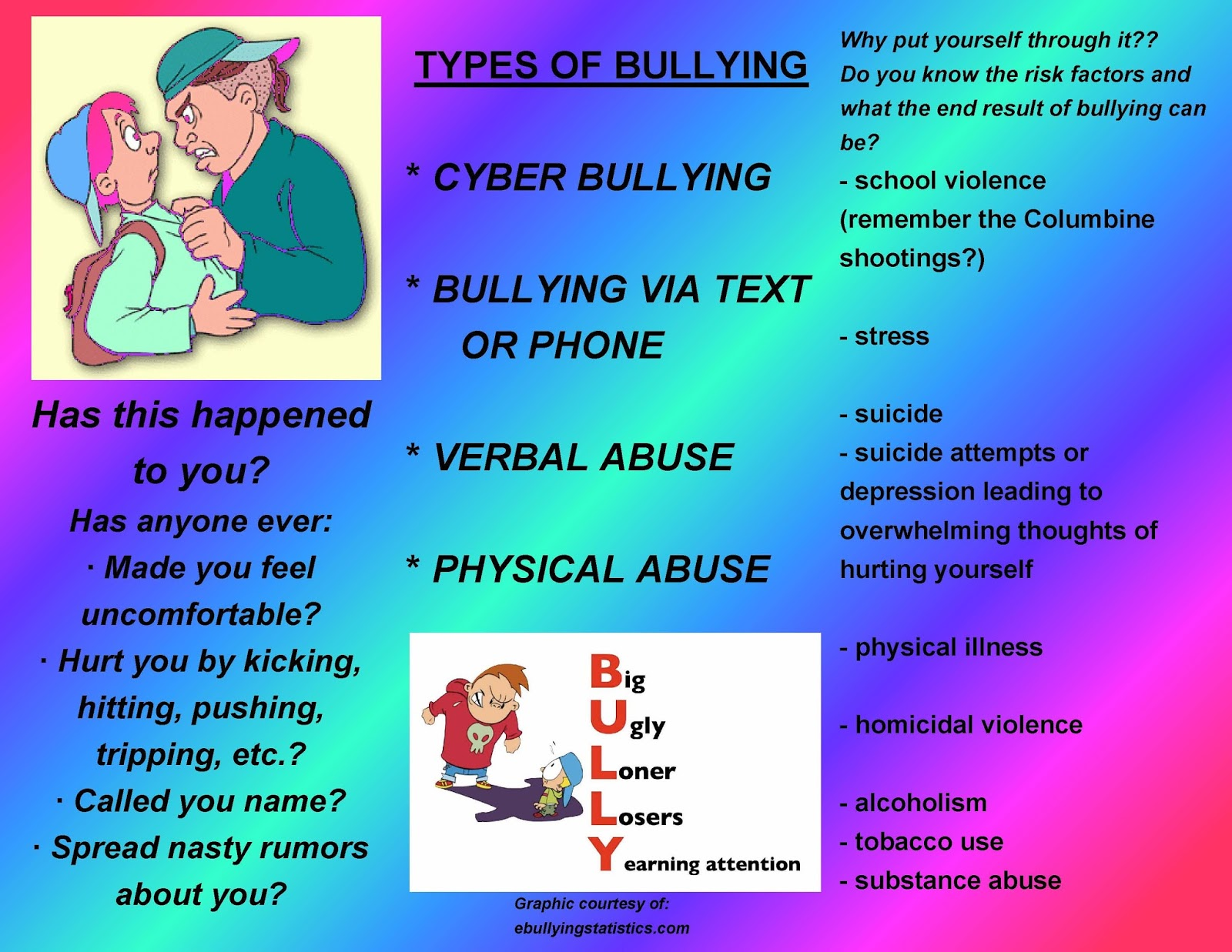 Stand Up Against Bullying Brochures