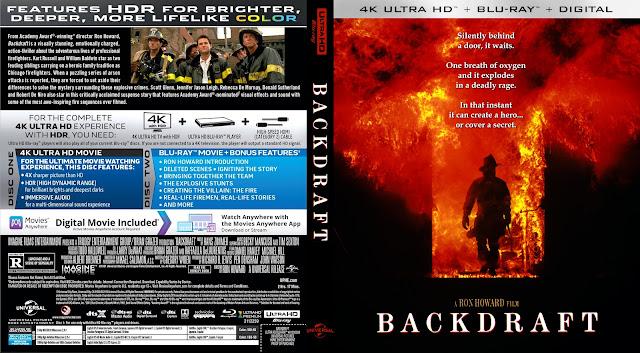Backdraft 4k UHD Bluray Cover