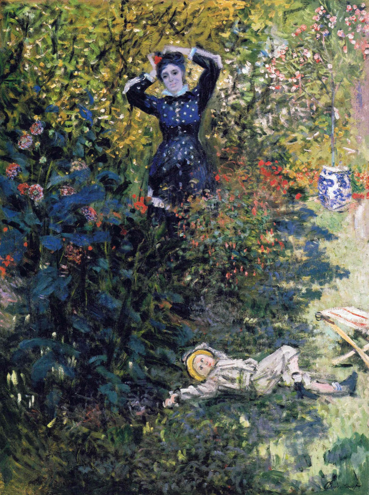 Claude Monet-Camille-and-Jean-Monet-in-the-Garden-at-Argenteuil-1873
