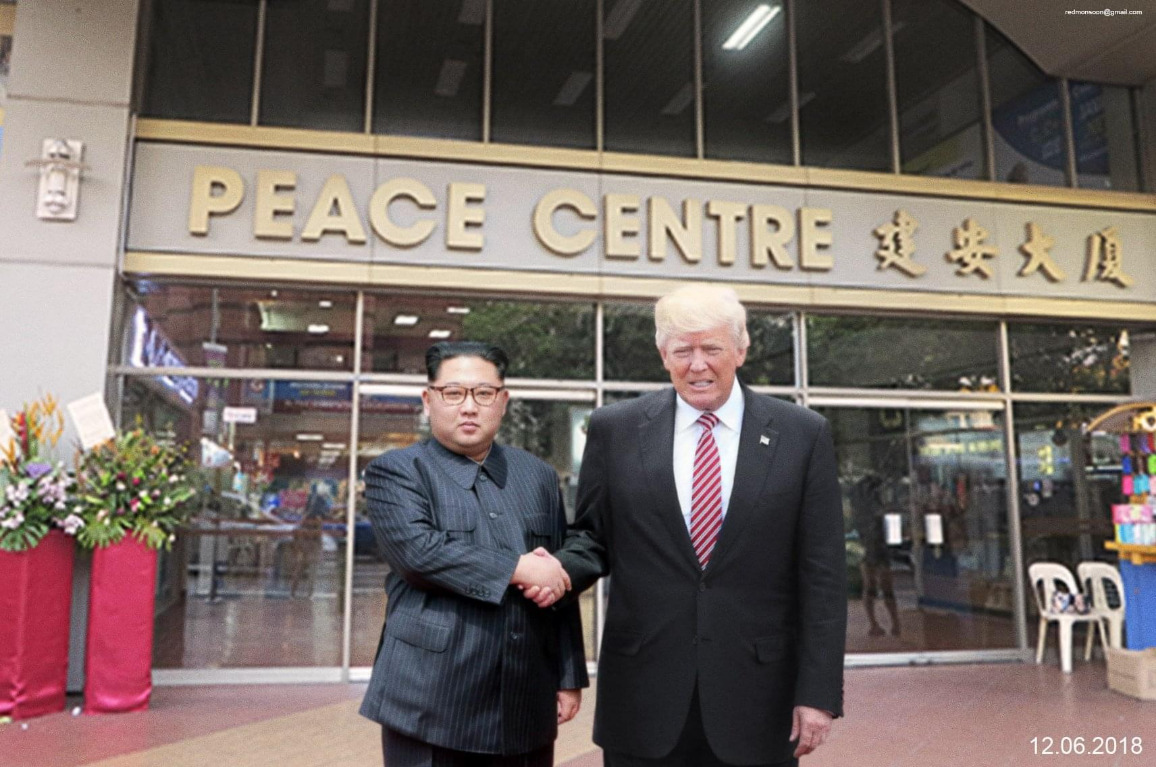Is that Trump and Kim at the Peace Centre