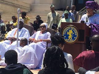 Ooni of Ife, Oba Adeyeye Ogunwusi in New York