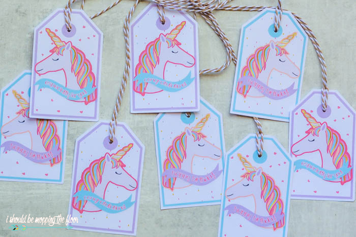 Printable Unicorn Gift Tags