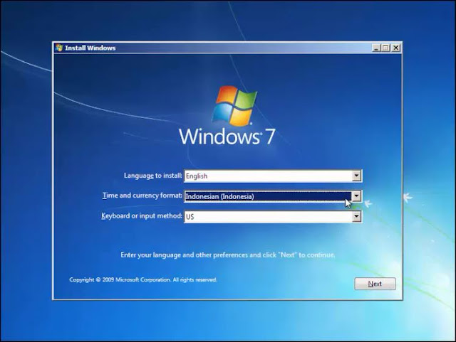 Cara install Windows 7 dengan Flashdisk tanpa kehilangan data 3