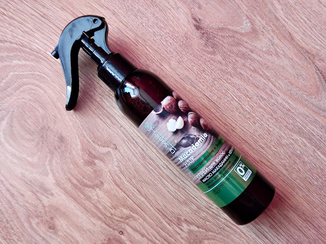 Elfa, Dr. Santé - Spray do włosów ułatwiający rozczesywanie z olejem macadamia i keratyną, opakowanie