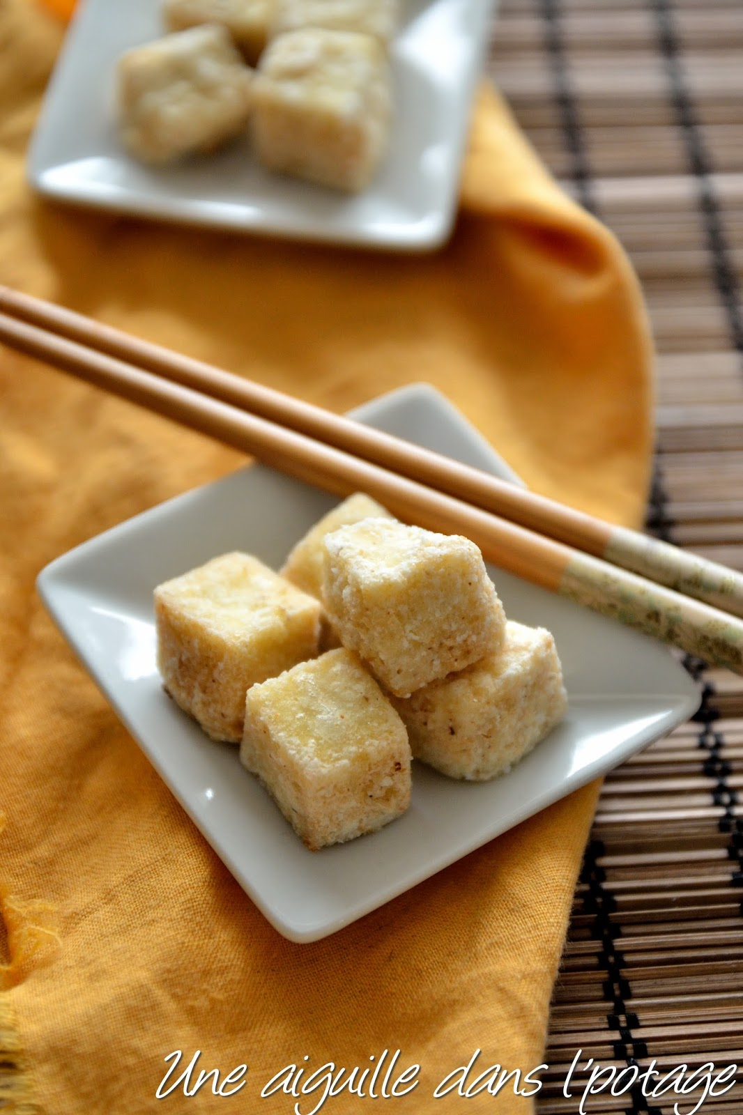 Une aiguille dans l 39 potage tofu frit sel poivre - Cuisiner le tofu nature ...