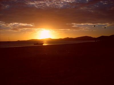 A typically impressive sunset in Cabo de la Vela
