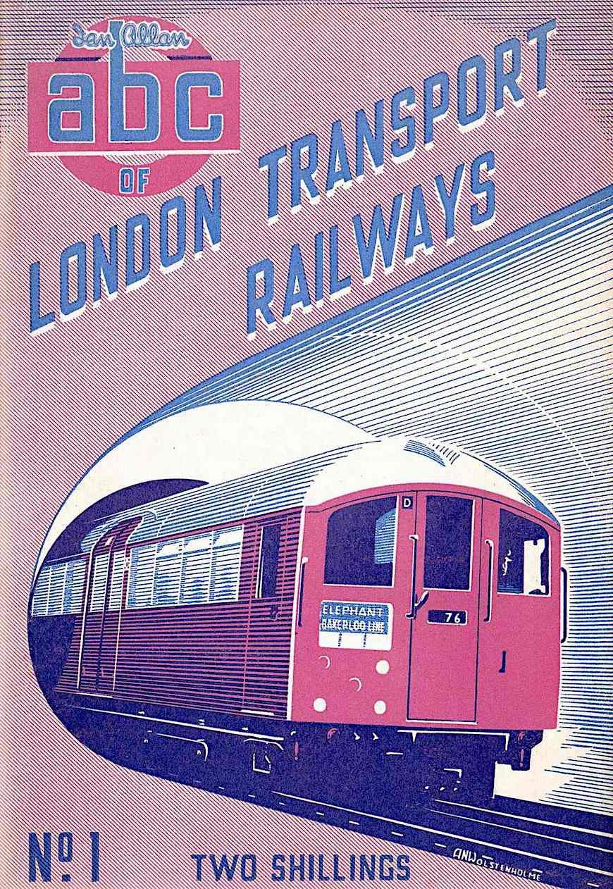 an A.N. Wolstenholme 1950 illustration for London Transport Railways