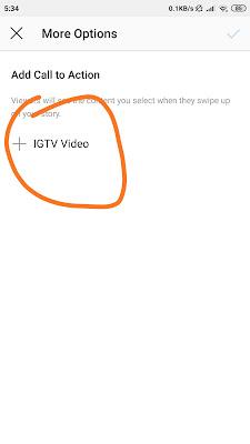 Menyambungkan insta story ke IGTV