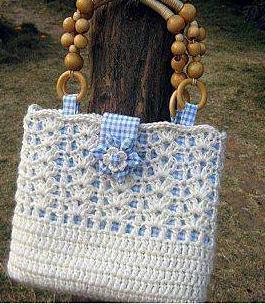 Patrón #1078: Bolso a Crochet