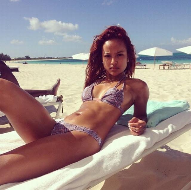 Hot girls Karrueche Tran sexy girfriend Manchester Player 3