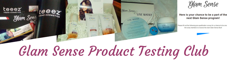 Glam Sense Product Testing Club