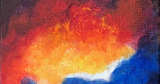 AFLAME-Original Miniature Painting by Marina Petro