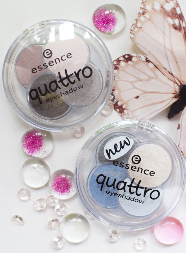 Swatch, essence eyeshadows quattros, neue nuancen