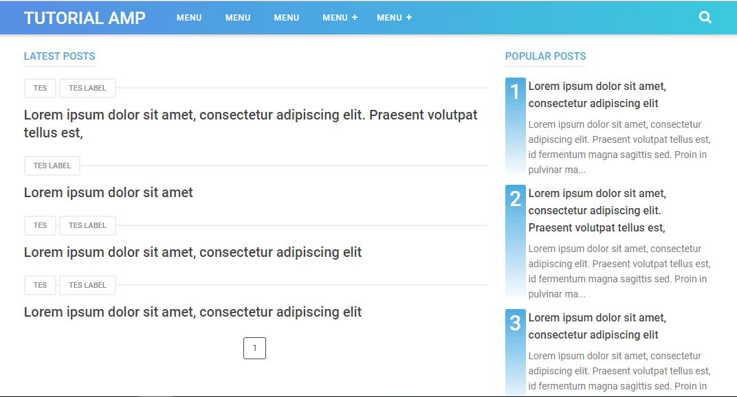 Menampilkan Hanya Judul Postingan Pada Homepage Template VioMagz