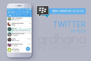 BBM Mod Twitter Versi 2.12.0.9 Apk Tema Baru BBM Android Gratis