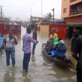 00w Rainfall in Lagos, photos of the After effect