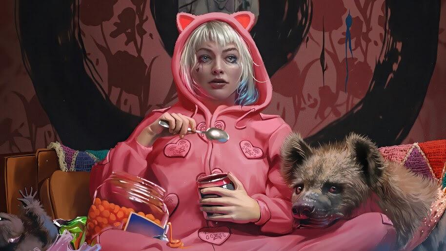 Harley Quinn, Hyenas, Birds of Prey, 8K, #3.2243