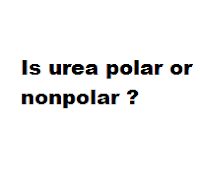 Question = Is urea polar or nonpolar ? Answer = urea ( NH2CONH2 ) is Polar