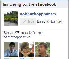Like fanpage facebook cho website, blog