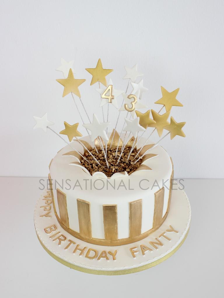 The Sensational Cakes Golden Shooting Stars Birthday Cake Singapore