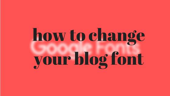 تغيير خط مدونة بلوجر