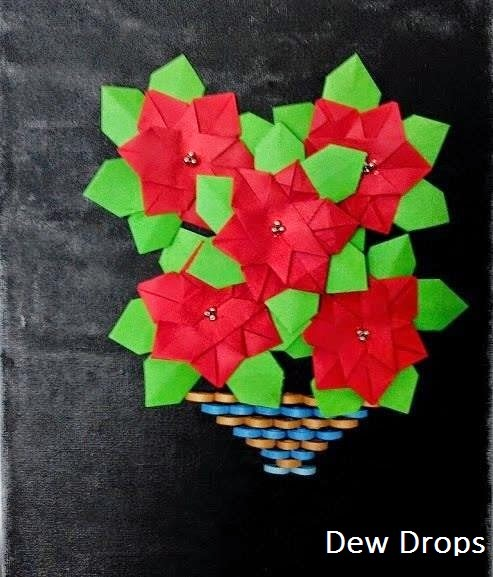 World Of Crafts Origami Poinsettia Flowers