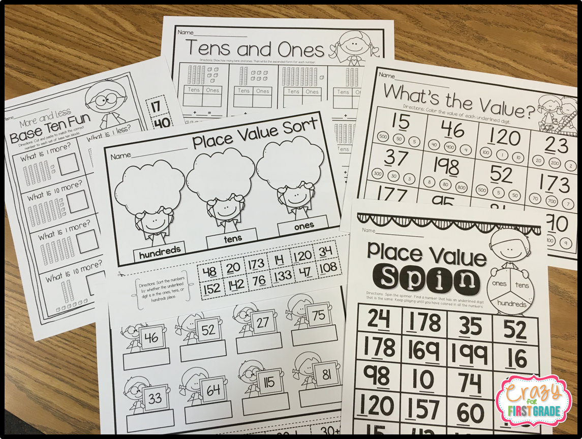 Place Value Practice Crazy For First Grade
