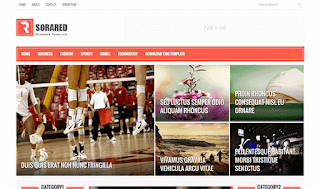 Sora Red Blogger Template