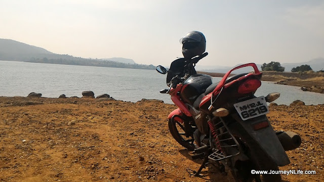 Breakfast ride to Baneshwar waterfall and Bhatghar Dam Backwater