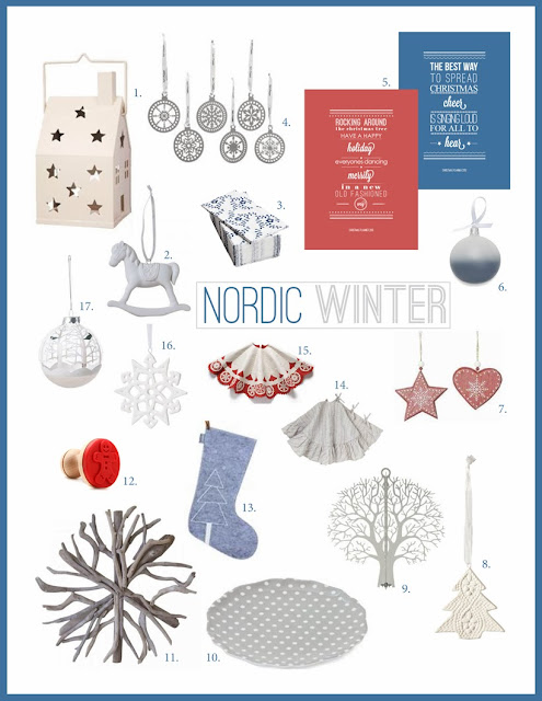 Nordic Winter Christmas Decorating Theme from elizaellis.blogspot.com