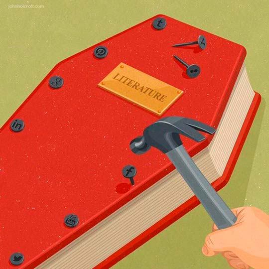Ilustración, concepto y sátira de John Holcroft