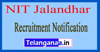NIT Jalandhar Recruitment Notification 2017