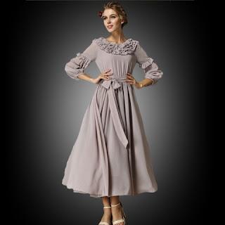Contoh Long Dress Cantik Anak Remaja