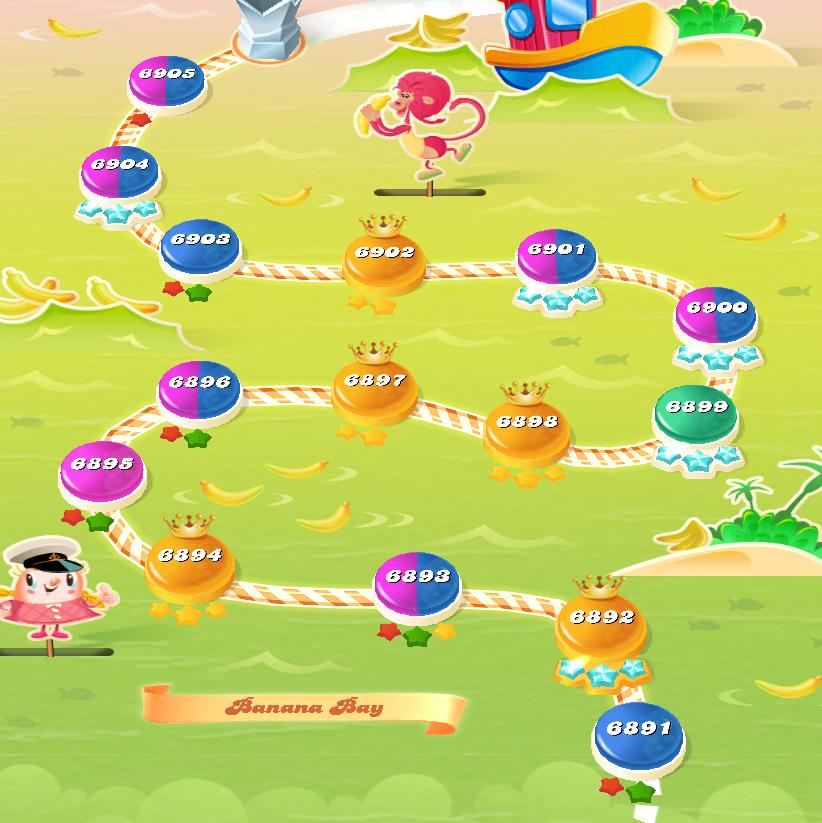 Candy Crush Saga level 6891-6905