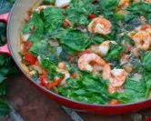 Shrimp with Tomatoes, Spinach & Feta