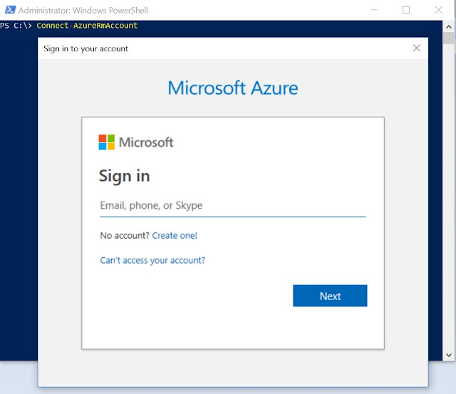 Connect to Azure account